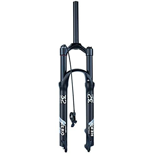 """LLGHT Horquillas de Bicicleta Horquilla de Freno de Disco MTB de 26/27,5/29 Pulgadas Horquillas de suspensión para Bicicletas Liberación rápida de 1-1/8"""" Viaje 110mm"""