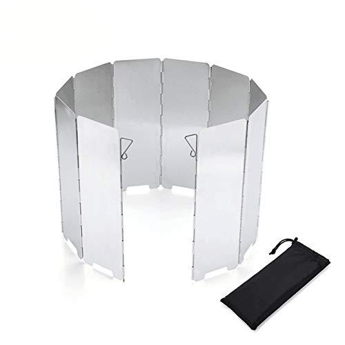 Winddichte Aluminium-Windschutzscheibe, faltbarer Outdoor-Campingkocher, Gasherd, wind- und wasserdichtes Gerät, Herd oder Grill