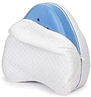 StyleBest - Almohada para rodilla, posición de piernas, para espalda, cadera, piernas y rodilla, para alivio de la presión de los nervios ciáticos (blanco)