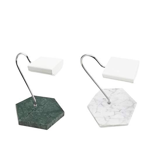 Milageto Colocación del expositor para relojes de poliuretano con base de mármol.