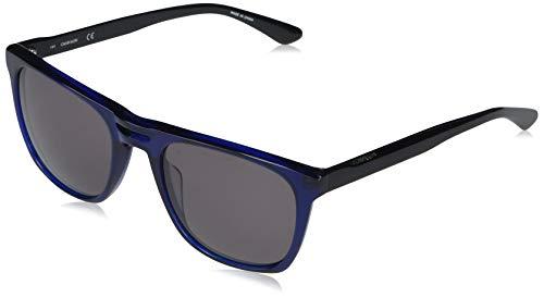 Calvin Klein CK20542S Gafas de Sol, Shiny Crystal Blue/Solid Smoke, Talla única para Hombre