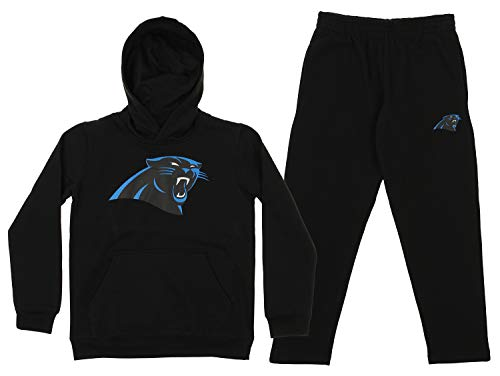 OuterStuff NFL Youth Team Color and Fleece Hoodie Set, Carolina Panthers Small 8