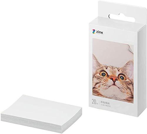 Bainuojia ZIP - Impresora de fotos para smartphone (iOS y Android), impresión inmediata, Bluetooth, sin tinta Zink 20 papeles.