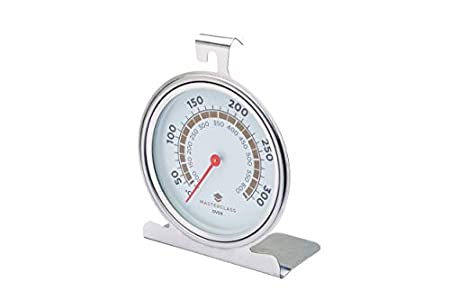 KitchenCraft MasterClass Termómetro de Horno de 50-300 Grados Celsius, Acero Inoxidable, Plata