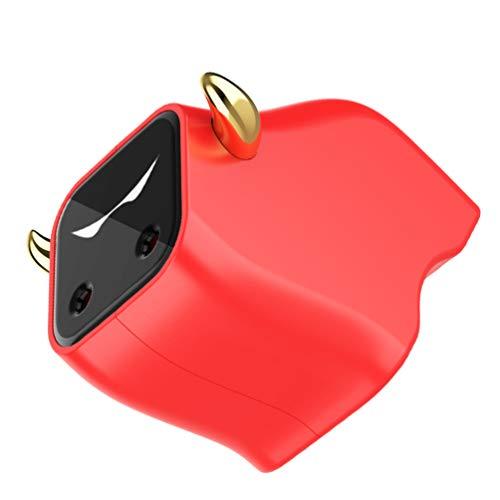 Hemoton Mini Humidificador Portátil Difusor de Aceite Esencial Año Nuevo Chino Zodíaco en Forma de Buey Personal USB Escritorio Humidificador para Coche Bebé Dormitorio Viaje Oficina