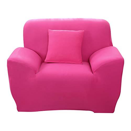 Hotniu 1-Stück Elastisch Sofaüberwurf Sesselbezug, Sofaüberzug Polyester, Sofahusse Sesselhusse Stretch, Sofabezug für Sofa, Couch, Sessel zum Schutz, mehrere Farben (1 Sitzer 90-130cm, Rosa)
