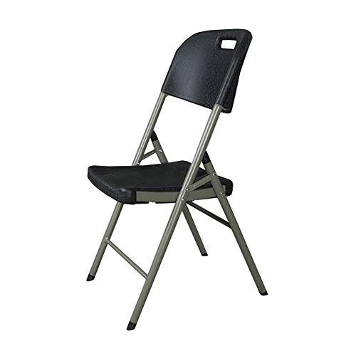 QIDI Chaise Pliante HDPE Bureau Pliable Rangement Facile De Plein Air Balcon Terrasse Bureau Camping Bureau Intérieur (Couleur : Noir)