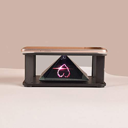 proiettore 3d olografico Alftek - Proiettore olografico 3D a piramide con visualizzazione quadrupla delle immagini