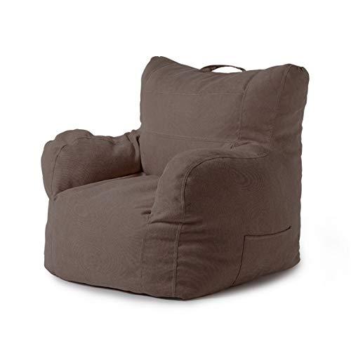 Bohnenbeutel Große Bohnenbeutel-Stuhl-Sofa-Couch-Abdeckung ohne Füller-Liege High Back Bohn Bagstuhl for Erwachsene und Kinder Drinnen Draußen (Color : Teddy Brown, Size : One Size)