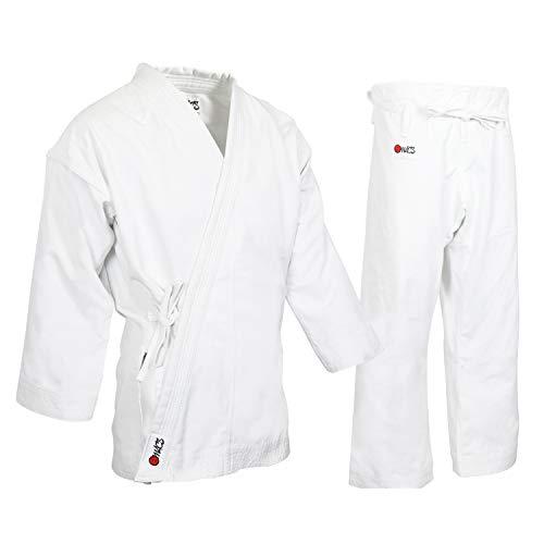 MACS Super Heavyweight Karate Uniform - White Professional Kimono - Advanced 100% Cotton Karate Gi – Ultra Comfortable - Ideal for Martial Arts Competition or Training (14 Oz) SZ4