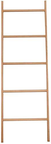 YLCJ Massief houten kapstok Badkamer handdoek Plank Half-ladder hanger met trapeziumvormige muur (Kleur: rood eiken Maat: vijf vloeren)