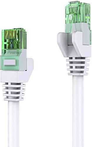 mumbi LAN Kabel 25m CAT 5e Netzwerkkabel CAT5e Ethernet Kabel Patchkabel RJ45 25Meter, Weiss