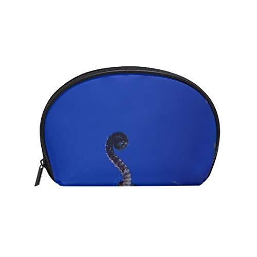 Shell Shape Traincase Makeup Bag Aquarium Fish Seahorse Seahorses Is A Genus Of Sma Print Best Travel Makeup Bag Pool Cosmetic Bag Portable Travel Multifunction Storage Bag With Zipper For Women