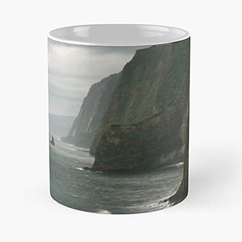 FashionNut Hawaii Kohala Island Big Coast Essen Sie Essen Biss John Best 11oz Unze weiße Keramik Kaffeebecher