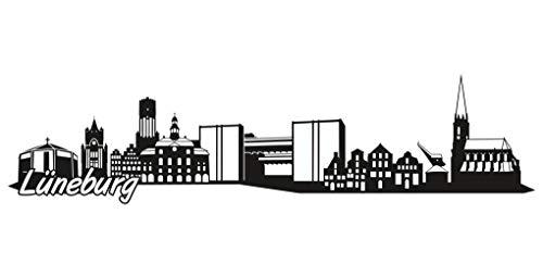 Samunshi® Lüneburg Skyline Aufkleber Sticker Autoaufkleber City Gedruckt in 7 Größen (20x5cm schwarz)