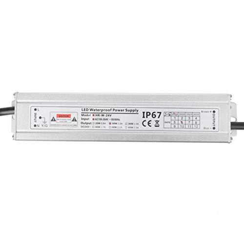 Alimentación de impulsión LED IP67 AC100~264V a 24v 30w Módulo de barra de luz de voltaje constante Fuente de alimentación sin energía de impulsión exterior estroboscópica para tira de luz LED Tubo