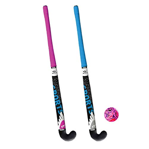 Angel Sport Hockeybal Hockeyset 2 Schläger, Blau, 71 cm, 0713102