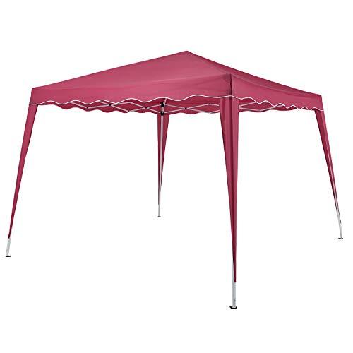 ArtLife Faltpavillon Vivara 3x3 m – Pop-up Pavillon höhenverstellbar, UV50+ & wasserabweisend – Gartenzelt mit Tasche – Partyzelt für Garten - Rot