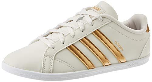 adidas Womens Coneo QT Sneaker, Alumina/Tactile Gold Metallic/Light Granite, 38 EU