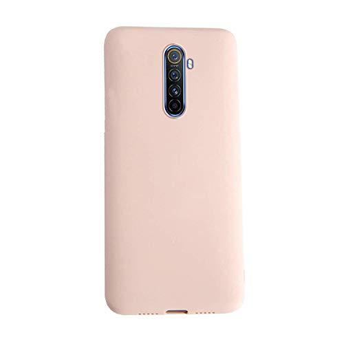 XunEda Funda para Realme X2 Pro, Ultra Ligero Funda Suave Caso Silicona Liquida Carcasa Protectora Case +Protector de Pantalla para Realme X2 Pro Smartphone(Rosa Claro)