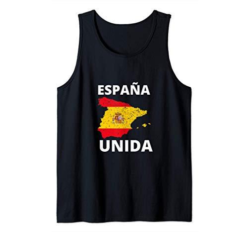 España Unida con Bandera de españa para patriotas Camiseta sin Mangas