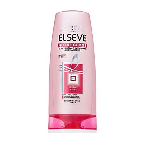 L'Oréal Paris Elseve Nutri-Gloss Soin Démêlant Instantané Embelisseur Cheveux Longs Ternes 200ml (lot de 4)