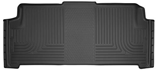 Husky Liners Fits 2008-16 Chrysler Town & Country, 2008-20 Dodge Grand Caravan - with 2nd Row Stow-N-Go Seating Weatherbeater 2nd Seat Floor Mat