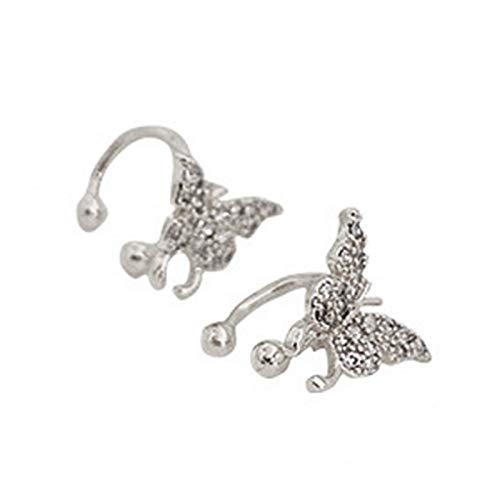 Ruby569y Pendientes colgantes para mujeres y niñas, pendientes de mariposa con clip de oreja brillante para fiestas, bodas, accesorios de regalo – 02