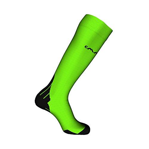 EMMITOU Calcetines Compression 02, Verde Fluorescente, 35-37