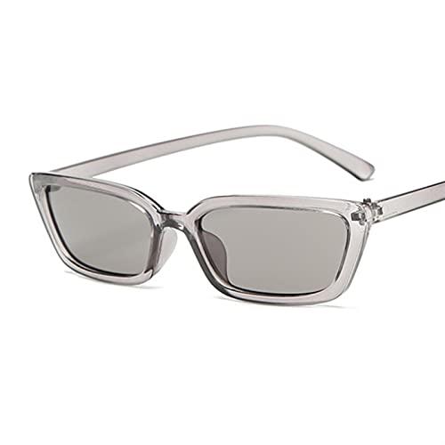 BAYSU Gafas de Sol Pequeño Gato Ojo Moda Gafas de Sol Mujeres Vintage plástico Espejo Retro Negro Sol Gafas Mujer uv400 Gafas de Sol (Lenses Color : Gray)
