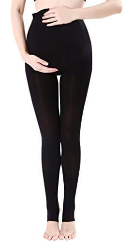 Black Maternity Compression Stockings Stretch Full Support Pantyhose Seamless Maternity Leggings for Pregnancy Plus-size