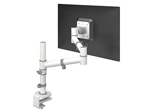 Dataflex Viewgo Bras Support écran - Bureau 120 - Supports d'écrans Plats pour Bureau (Pince/Boulon, 8 kg, 75 x 75 mm, 100 x 100 mm, Réglage de la Hauteur, Blanc)
