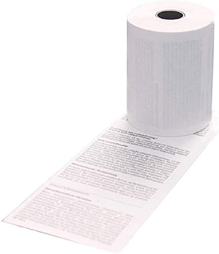 50 EC-Cash Thermorollen 57mm x 18m x 12mm Ø ca. 40mm für EC-Gerät Ingenico IWL 250 220 SEPA-Lastschrifttext - zertifizierte HKR-Welt-Rollen - BPA (Bisphenol-A) frei
