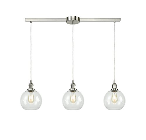 EUL Industrial Vintage Kitchen Island Lighting Clear Glass...