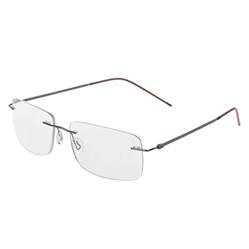 Chaunce Gute Qualität Unisex Ultraleicht Randlos Lesebrille Intelligent Progressives Multifokal Presbyopie Brille +1.0 ~ + 3.0