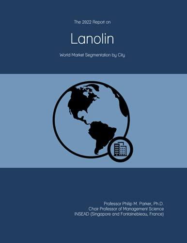 The 2022 Report on Lanolin: World Market Segmentation by City