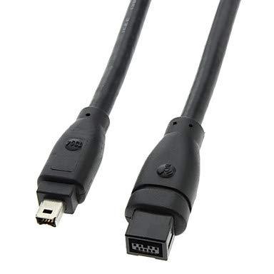 QAZSE 9 PIN/4PIN FireWire 800 - Cable FireWire 400 Negro (1,8 m)