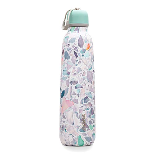Avana Ashbury Stainless Steel Double-Wall Insulated Water Bottle, 24oz, Terrazzo