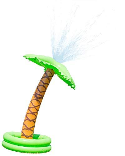 Playtastic Wasserspielzeuge Garten: Aufblasbare Palme mit integriertem Wassersprinkler für Kinder (Wasserspielzeuge Pool)