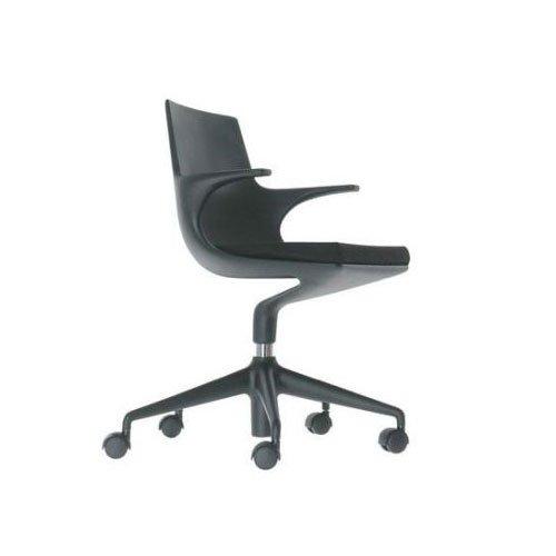 Kartell 481907 Stuhl Spoon Chair grau-schwarz
