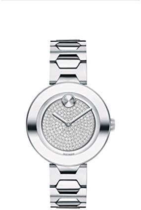 Movado Bold Stainless Steel Case Silver Dial Stainless Steel Bracelet Women 3600567 product image