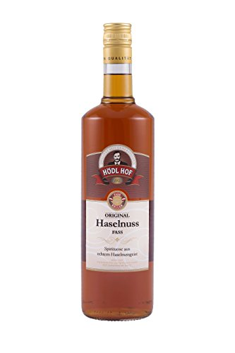 Hödl Hof Haselnuss Fass | 38% vol. | Haselnuss Schnaps im Holzfass gelagert (Eichenfass) | Gold World Spirits Awards 2018 | Haselnuss Spirituose gelagert im Holzfass | (1,0)