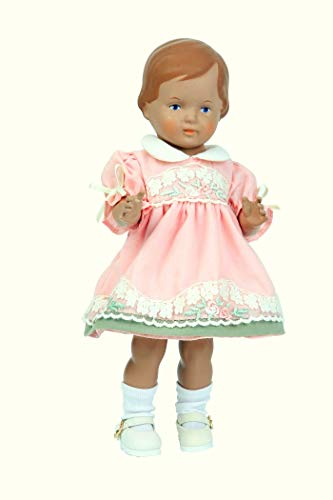 Schildkröt Puppe Christel Klassik Kollektion 25 cm groß braunes Haar Blaue Augen, 9425832