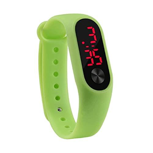 Tatoonly Reloj de Pulsera Deportivo de Ocio para Hombres y Mujeres Reloj de Silicona cómodo Digital electrónico LED Duradero