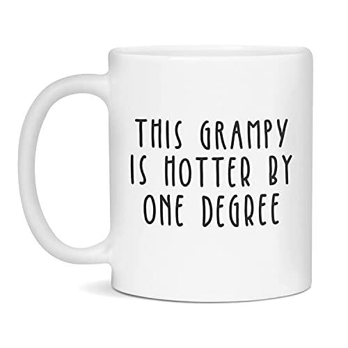 Taza de café de cerámica de 11 onzas para regalo de graduación para Grampy Hotter