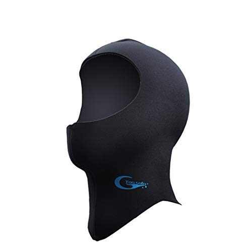 Diving Hood - Neoprene Wetsuit Dive Hood 3MM 5MM for Men Women Dive Cap Surfing Thermal Hood for Water Sports