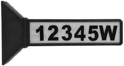 Moonrays 91919 15.2-Inch 2-Sided Solar Address Sign, Black
