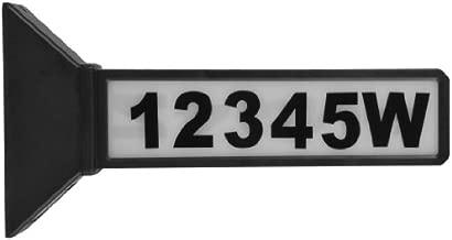 Moonrays 91919 2-Sided Solar Address Sign, Black