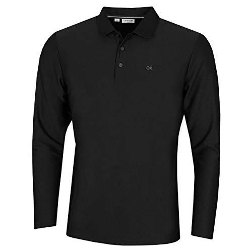 Calvin Klein Hommes Manches Longues Central Light Polo de Golf - Noir - M