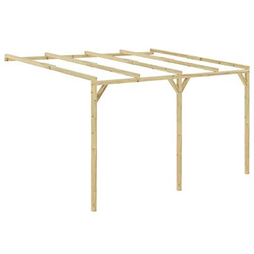 vidaXL Pérgola cobertizo de madera 4x3x2,1 m
